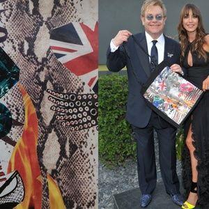 Jimmy Choo for Elton John tote black eco shopping